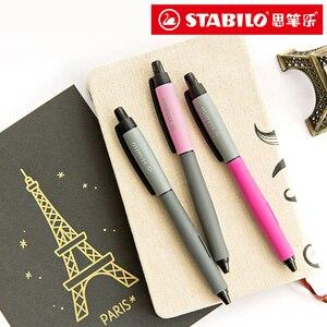 Germany STABILO 268 Press Gel Pen Black Signature Pen Gel Pen Student Exam Office 1/7PCS