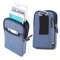 4 цвета, слот для ручки, дизайн, 3 молнии, карманы на карабине, сумка для нескольких моделей телефонов, крючок-петля, поясной чехол для смартфо...