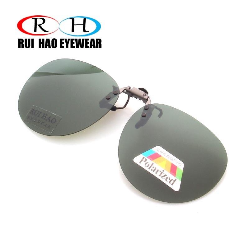 Clip redondo en gafas de sol Unisex gafas Clip puede ser gafas de sol abatibles polarizadas gafas de sol hombres mujeres marca de conducción gafas
