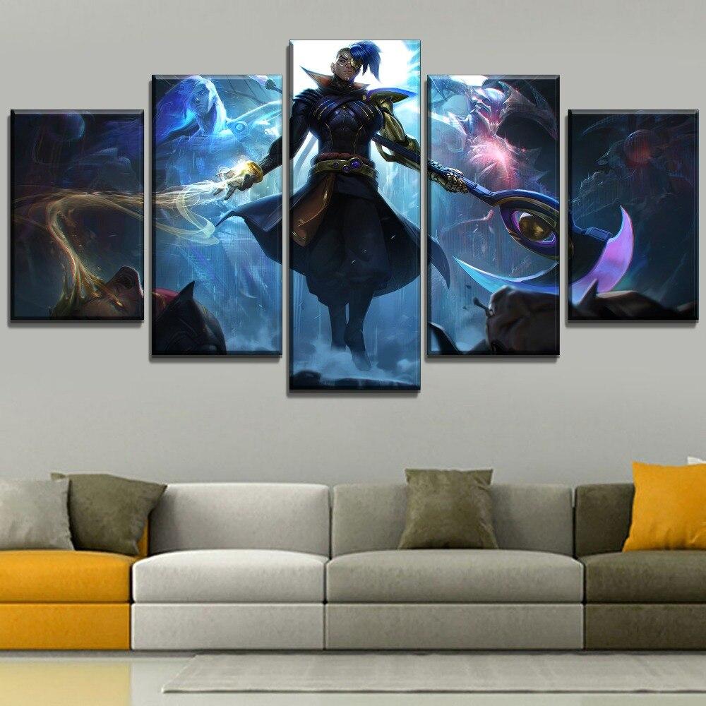Póster de impresiones de lienzo para pared, juego de arte Kayn League Of Legends, pintura para decoración del hogar, cuadros abstractos, Marco creativo para sala de estar