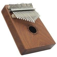 17 touches bois pouce Piano Instrument pin aluminium Bar Kalimba Mbira clavier musique Portable doigt planche avec air marteau