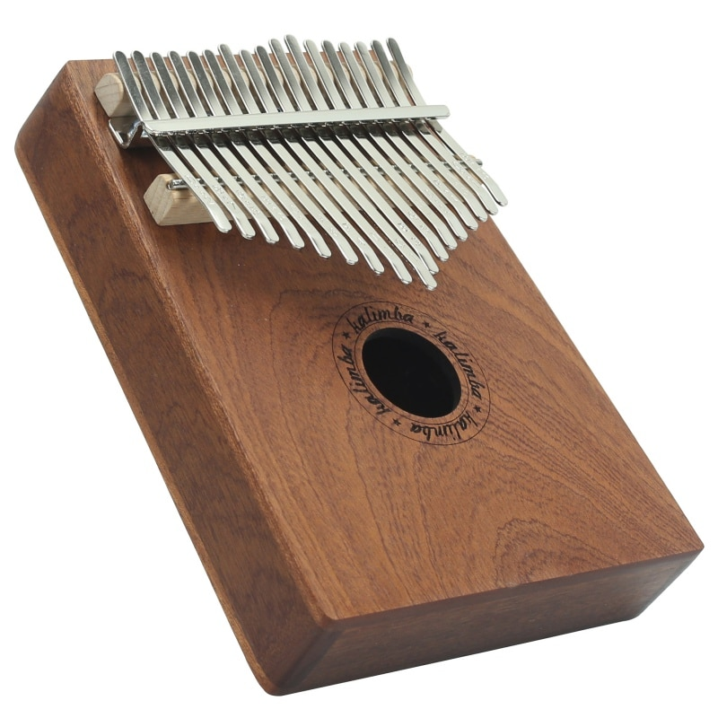 17 teclas de madera pulgar Piano instrumento Pino barra de aluminio Kalimba Mbira teclado música portátil tablero de dedos con martillo