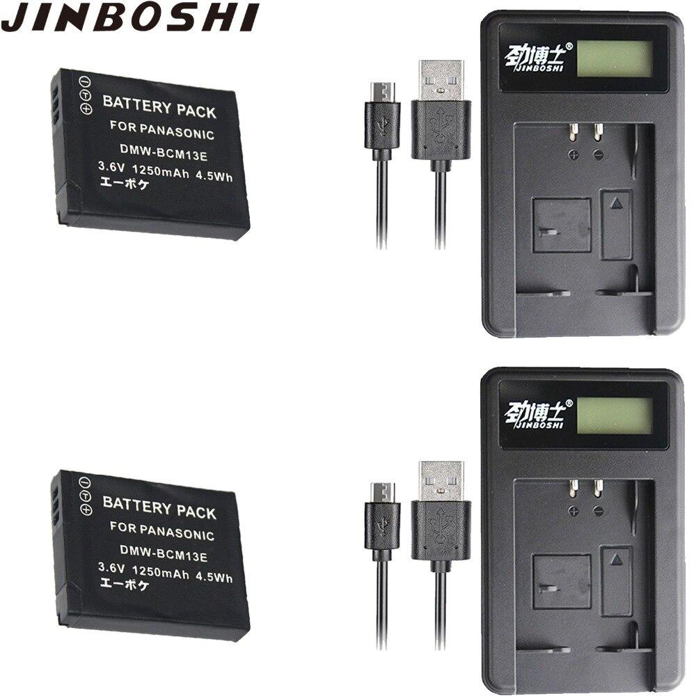 2 pcs DMW Bateria + Carregador USB para Panasonic DMW-BCM13 2X BCM13E, DMW-BCM13E, DMC-ZS27 DMW-BCM13PP e Lumix, DMC-ZS30, DMC-ZS35