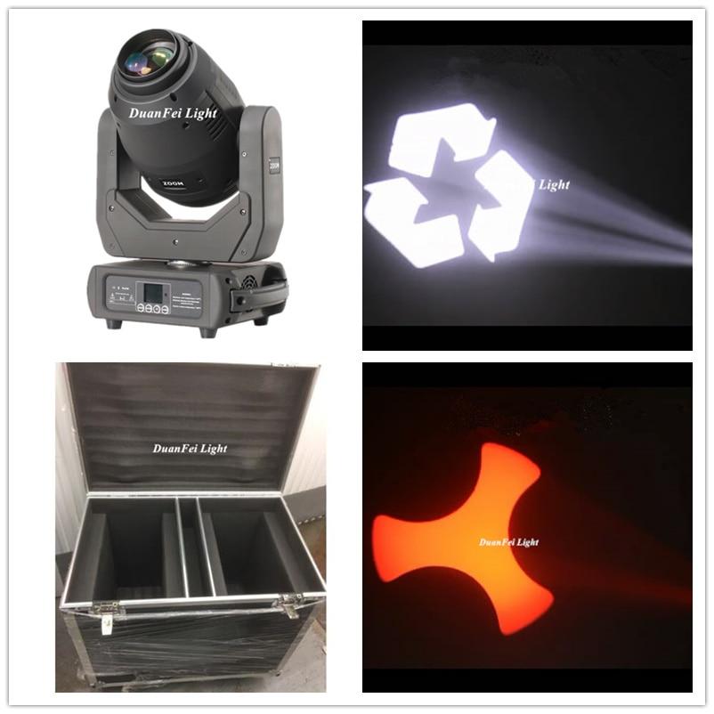 (8lot + 4 Flycase) Spot LED 250W cabezal móvil haz de zoom dj prisma luz móvil