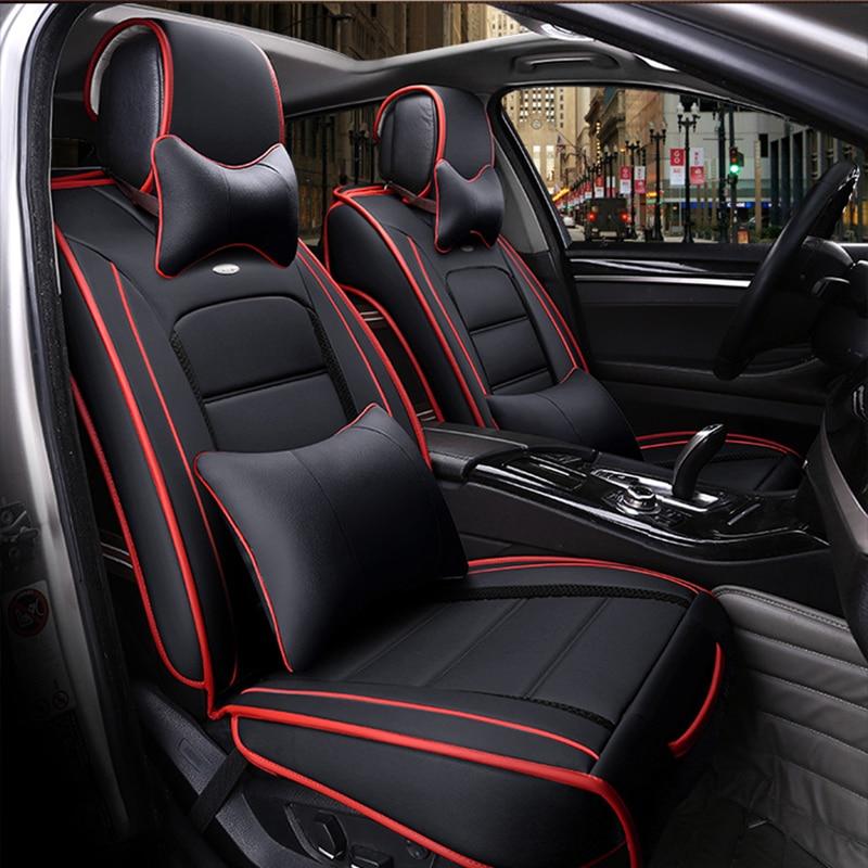 ( Front + Rear ) Special Leather car seat covers For Hyundai solaris ix35 i30 ix25 Elantra accent tucson Sonata auto accessories