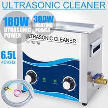 Limpeza ultra-sonografia 6L Inoxidável Banho Aquecedor de 180 W Ajustável Ultrasonic Instrumentos Ópticos Instrumentos Dentários balas shell máquina de Lavar