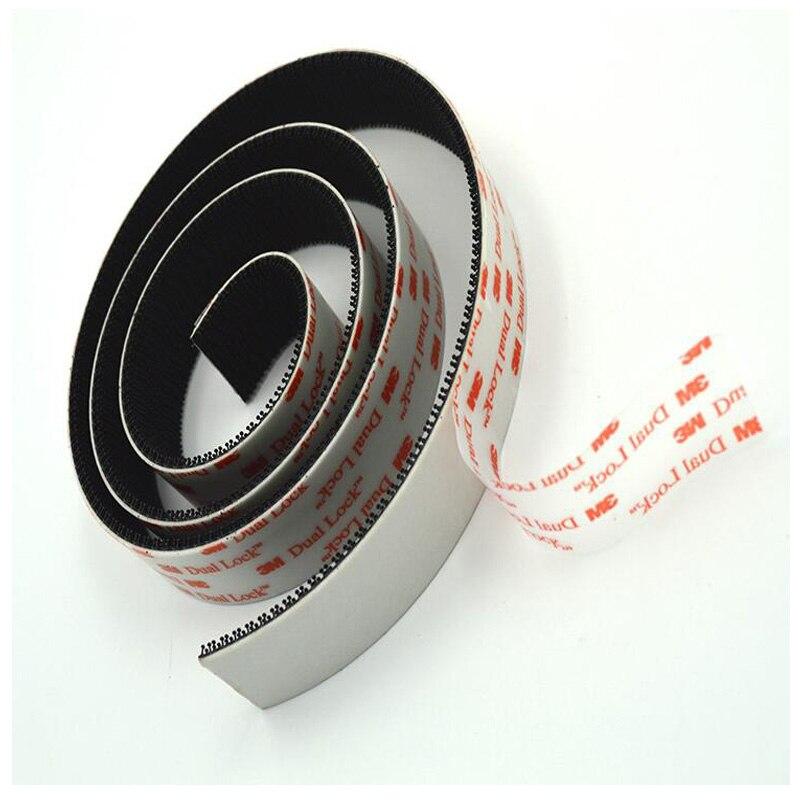 3M Dual Lock Dual-Sided Black Self Adhesive Tape Designer Nylon Magic Mushroom Adhesive Fastener Sewing Elastic Strong Glue Tape
