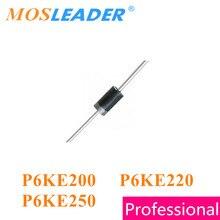 Mosleader P6KE200 P6KE220 P6KE250 DO-15 1000 pièces 600 W P6KE200A P6KE220A P6KE250A P6KE200CA P6KE220CA P6KE250CA 200 V 220 V 250 V