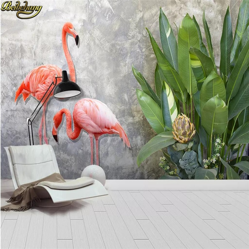 beibehang embossed magnolia pearl nordic jewelry wall papers home decor 3d flooring wallpaper for living room home improvement beibehang custom Tropical plant leaf flamingo 3D Wallpaper European 3d flooring wallpapers for Living Room wall paper home decor
