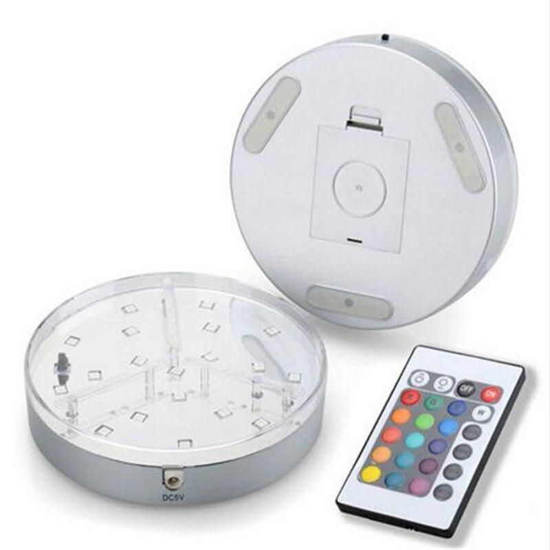 2piece/Lot KITOSUN 15CM Diamter Silver Round Base Multicolor SMD RGB LED Shisha Hookah Light