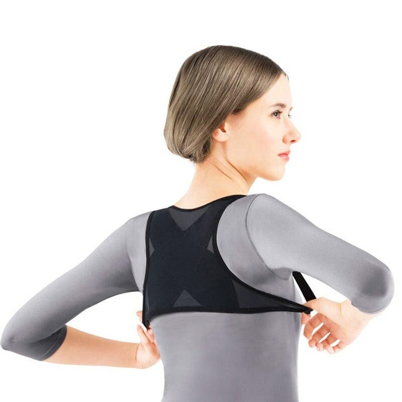 Corrector de postura de espalda para mujeres soporte de hombro chaleco transpirable abrazadera ajustable cinturón Dropshipping