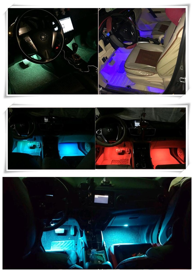 ¡Novedad! lámpara de tira de LED decorativo de Control remoto para coche Vauxhall Opel Astra G/GTC/J/H Corsa Antara Meriva Zafira