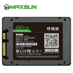 MAXSUN ssd 480 ГБ 2,5 дюйма ssd SATA III 3D NAND Flash TLC SMI 3 года гарантии ssd 480 ГБ Внутренние твердотельные накопители для портативных ПК