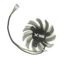 Ventilateur de carte VGA sans cadre 75MM FD7010H12S DC 12V 0.35A pour le refroidissement de la carte GPU ASUS saphir HD6930 HD7850