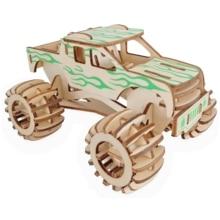 Laser découpe 3D en bois Puzzle véhicule monstre camion bricolage Kit de montage enfants éducatifs en bois jouets pour enfants garçons