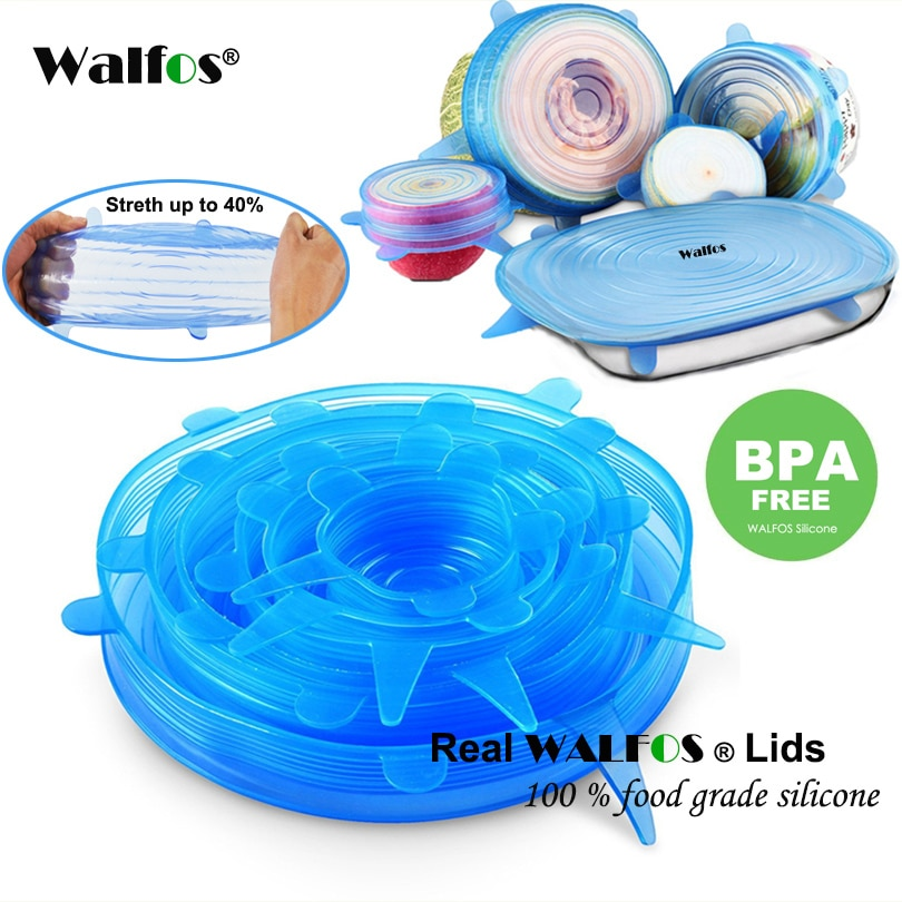 aliexpress.com - WALFOS Silicon Stretch Lids Universal Lid Silicone Food Wrap Bowl Pot Lid Silicone Cover Pan Cooking Kitchen Accessories