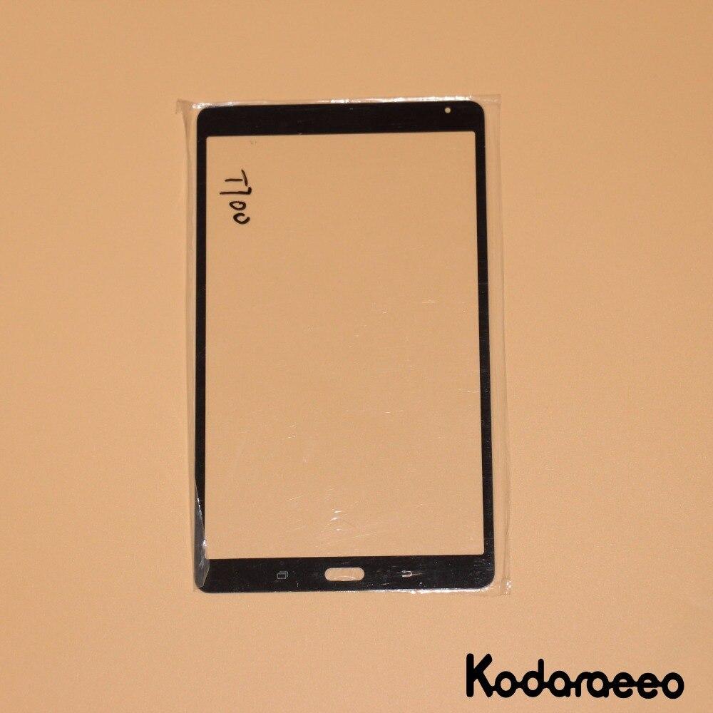 Kodaraeeo para Samsung Galaxy Tab S 8,4 T700 frontal exterior cristal lente Panel reemplazo negro
