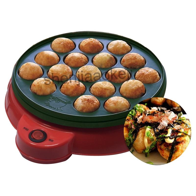KS-331 الأخطبوط كرات الخبز آلة الأخطبوط الكرة آلة صغيرة اللحوم الكرة آلة مع 18-ثقوب المنزلية Maruko آلة 220v650w