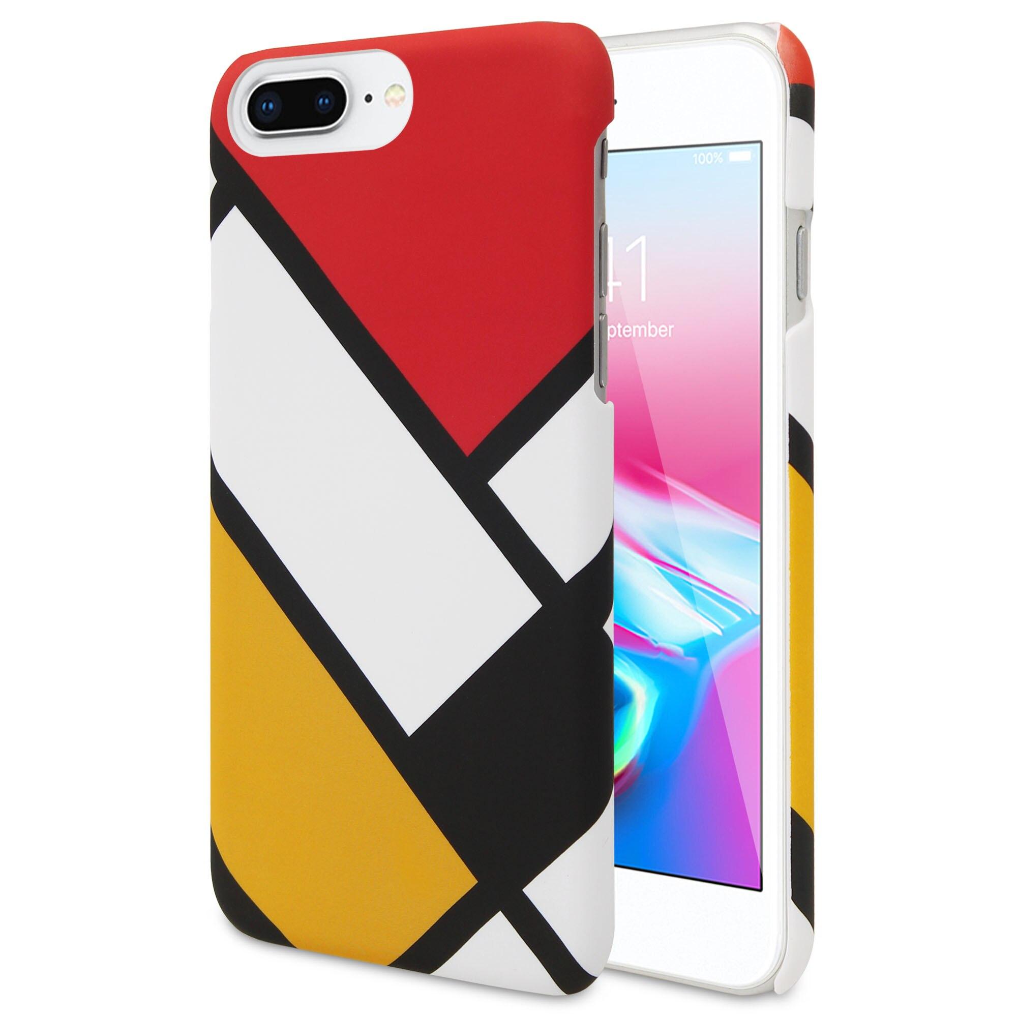 ANYLIFE coque arrière premium Anti-choc (avec motif sur les bords)//iphone 6 +/6s +/7 +/8 +-SQUARE4-
