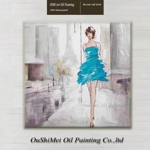 Artista profesional pintado a mano, figura abstracta moderna, pintura al óleo, chica sexi, arte de pared, cuadros de lienzo, artesanías decorativas