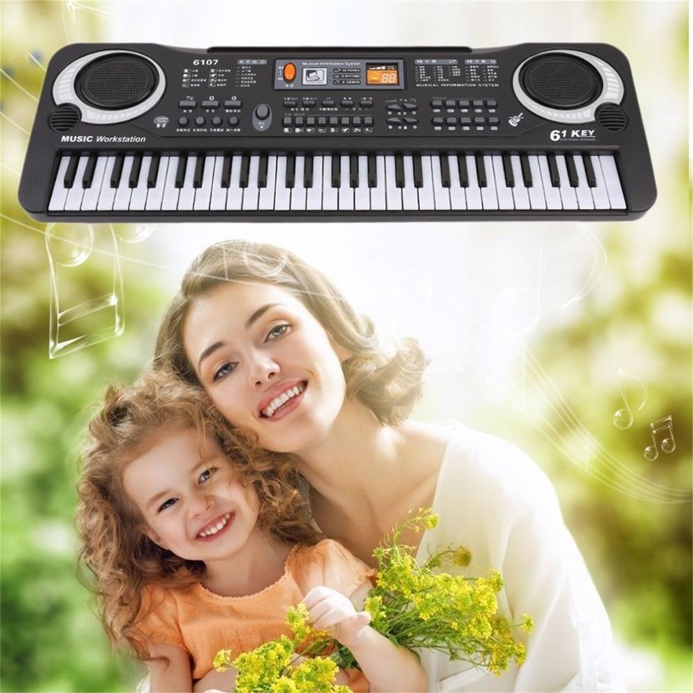 Teclado electrónico multifunción de 61 teclas con música Digital, teclado eléctrico de Piano para niños y adultos, teclado de instrumento de regalo