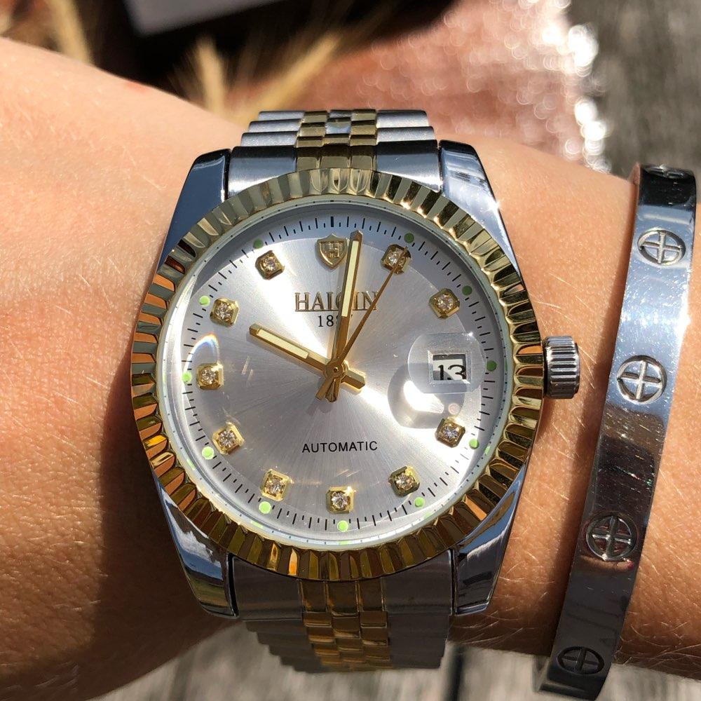 HAIQIN Women's watches Gold mechanical women watch WoMens watches Top brand luxury Clock Ladies WristWatch Lady Relogio Feminino enlarge
