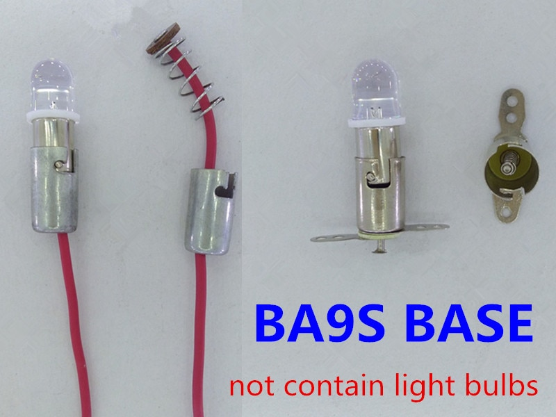 10 unids/lote base BA9S portalámparas máquina herramienta instrumento medidor instrucciones marino portalámparas BA9S portalámparas