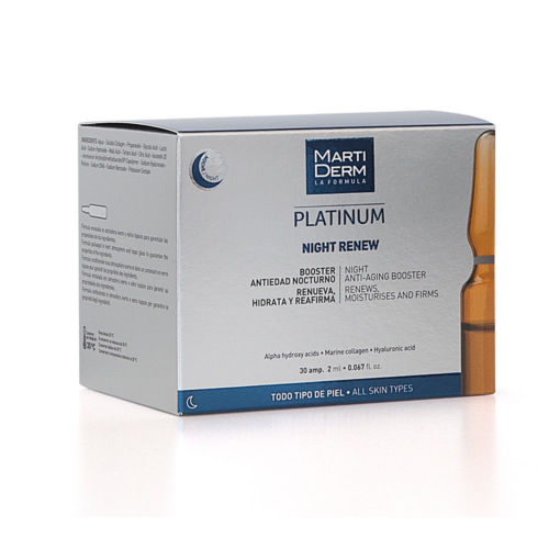 Martiderm Alfa Peeling/renovación nocturna, 30 Ampollas, Ampollas para acné