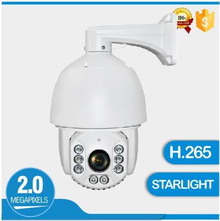 Alta calidad H.265 Sony 185 Starlight IP PTZ Cámara Full HD 2MP cámara domo de alta velocidad Zoom 20X impermeable IP 66 cámara de seguridad