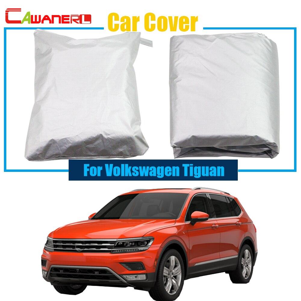 Cawanerl cinza capa de carro ao ar livre chuva sol neve resistente anti uv risco capa para volkswagen tiguan