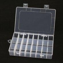 Elektronische Zubehör Lagerung Box 24 grid Abnehmbare Kunststoff Lagerung Fall für Elektronische Komponenten für