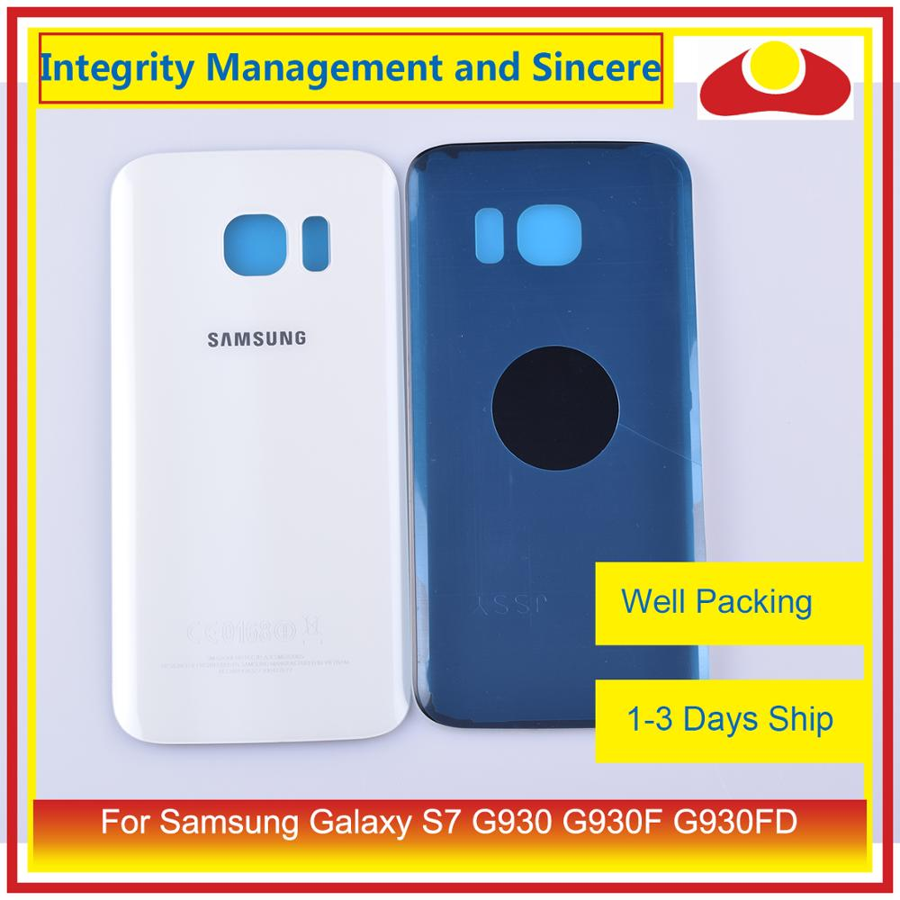 50Pcs/lot For Samsung Galaxy S7 G930 G930F G930FD SM-G390F Housing Battery Door Rear Back Glass Cover Case Chassis Shell enlarge