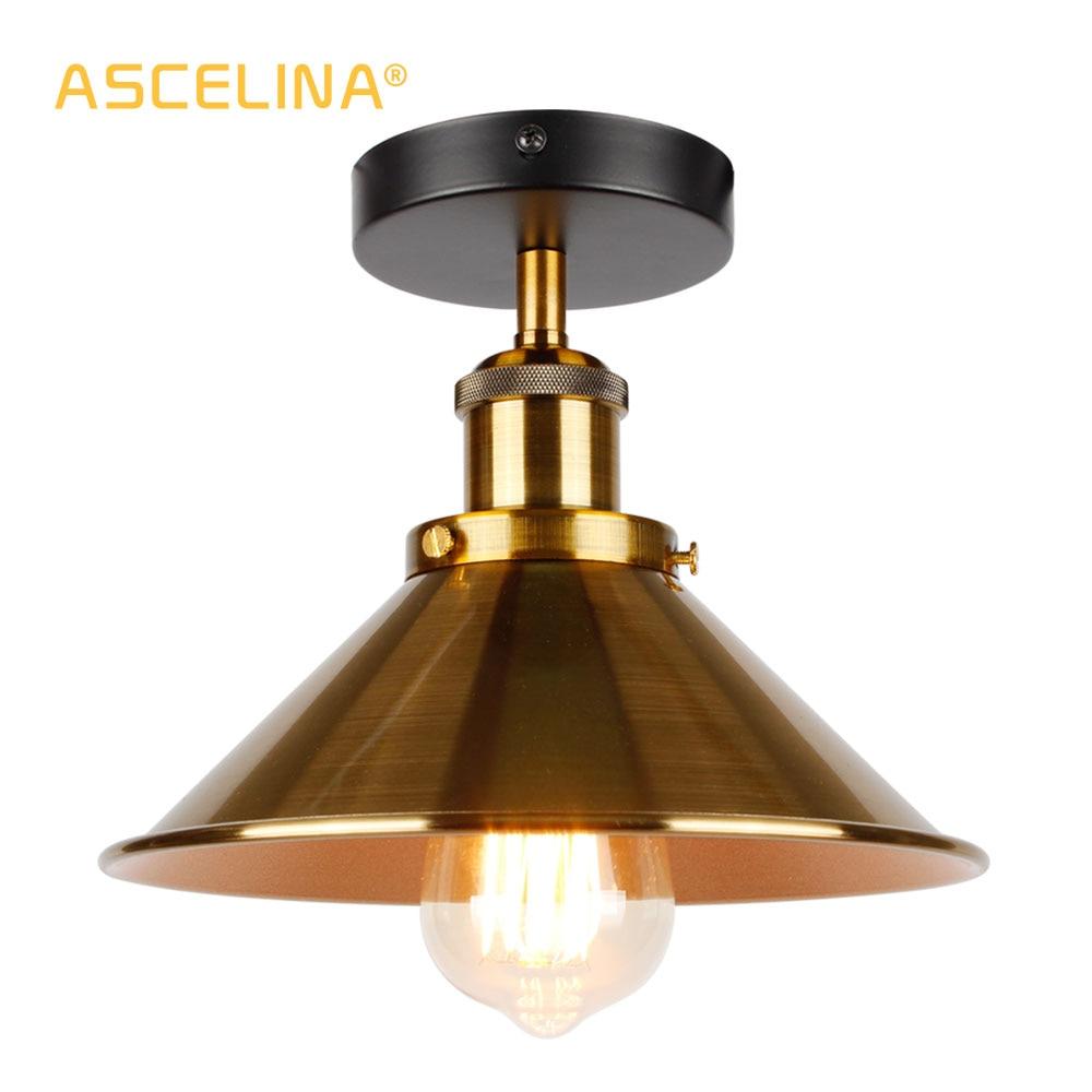Промышленный потолочный светильник, винтажный потолочный светильник в стиле ретро, потолочное освещение в американском стиле, бесплатная ...