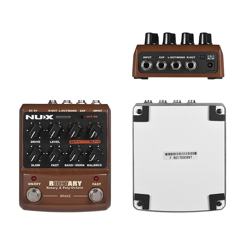 NUX ROCTARY Force Guitar Effect Pedal 2-in-1 Rotary Speaker Simulator Polyphonic Octave Effect Guitar Pedal Guitar Accessories enlarge