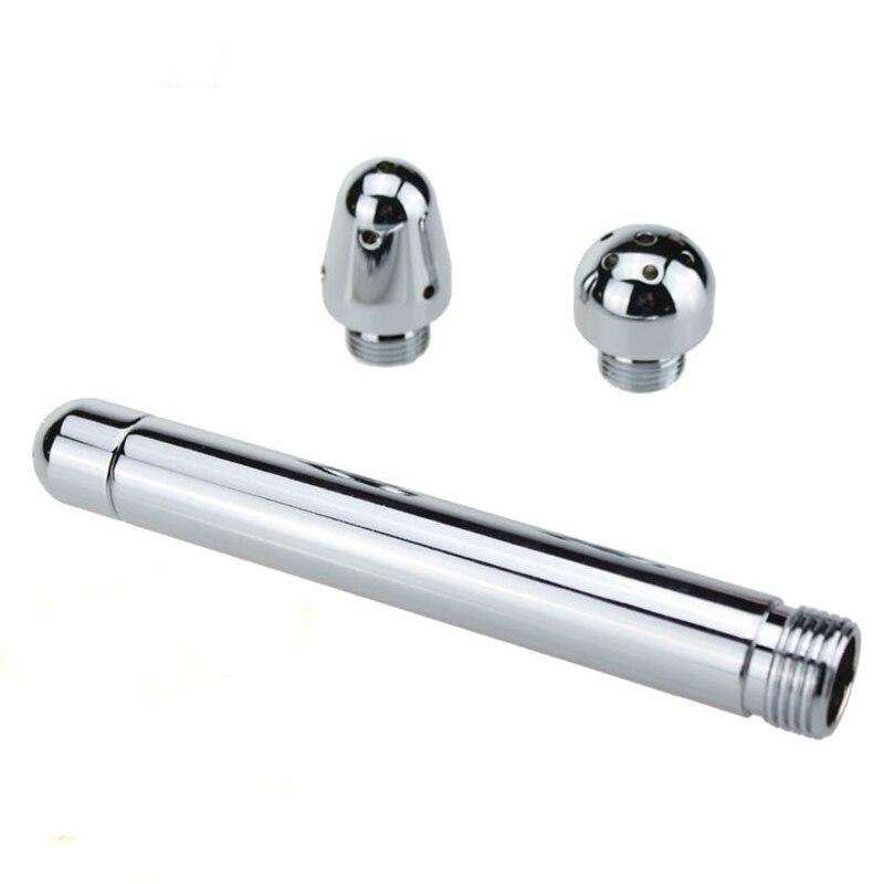 Herramienta de Enema de Metal para limpieza anal y enjuague vaginal Enemator cabezal de ducha para hombres y mujeres