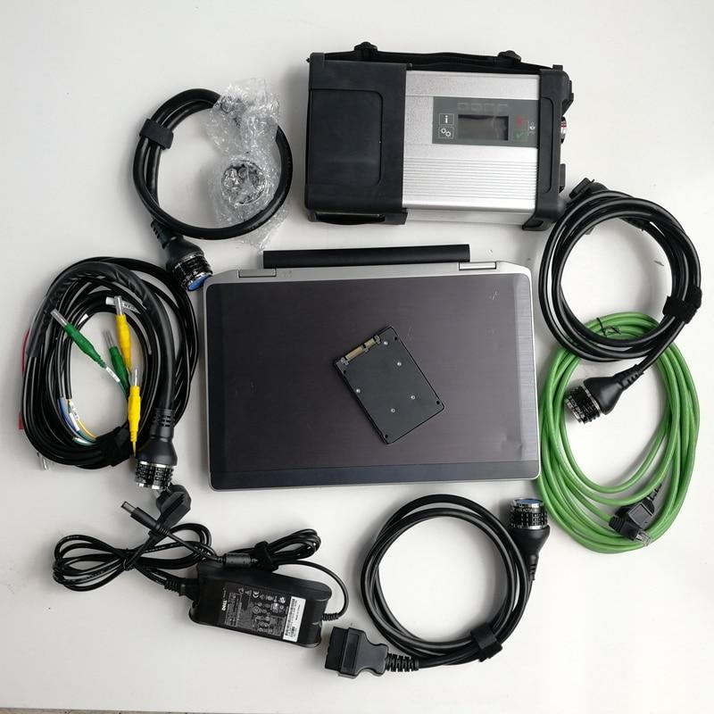 MB Super Star C5 SD C5 para herramienta de diagnóstico de coche y escáner con ordenador portátil usado E6320 I5 4G y Software de gran oferta 360GB SSD V06/2020
