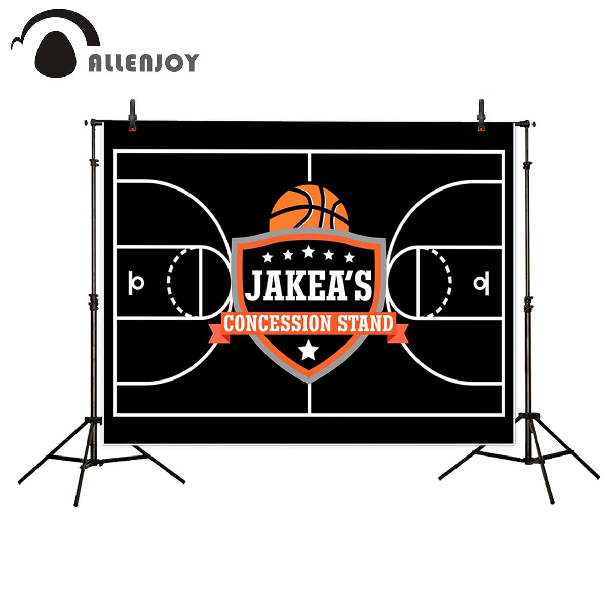 Allenjoy fundos para estúdio de fotos preto jogo de basquete cartaz customizeization pano de fundo novo design original fantasia adereços