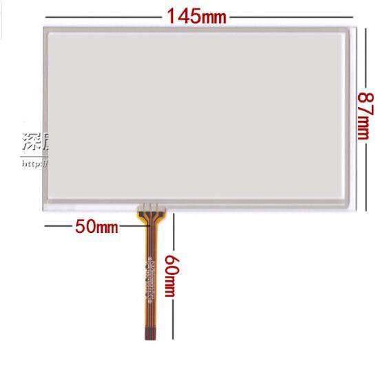 6 Polegada V060FW02 TM060RDH01 Tela Sensível Ao Toque de navegação do carro DVD tela caligrafia tela de toque tela de 145*87