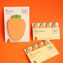Kawaii carotte N Times Notes autocollantes créatif bureau décor papier mémo bloc-Notes fournitures dexpédition décoration papeterie japonaise