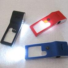 3X 10X loupe de bijoutier 55X Microscope et lumière UV avec LED et gaine en cuir bijoutiers/outil de réparation de montre