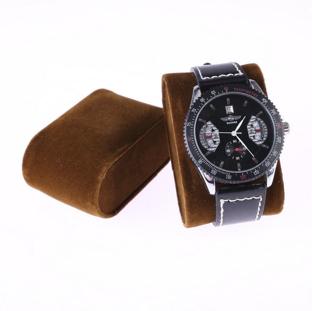 10 Uds. Bonito soporte de cojín de presentación de reloj de terciopelo marrón, soporte de pulsera