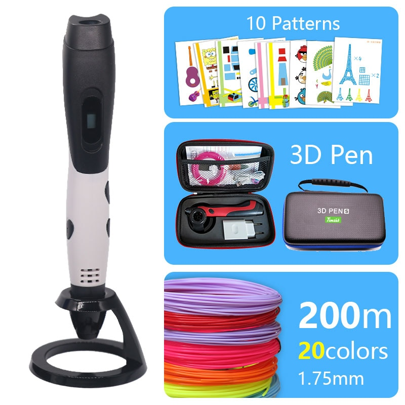USB 3d pen 3d handle with Brilliant colour 1.75mm abs/pla filament with beautiful stron bag can use power bank supply