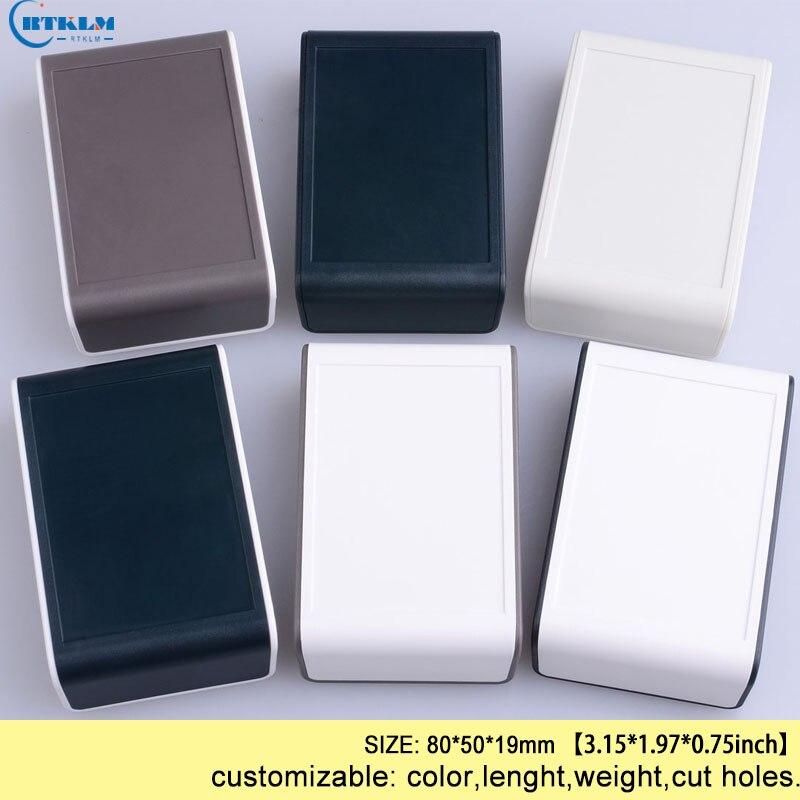 ABS صندوق توصيلات بلاستيكي لتقوم بها بنفسك إلكترونيات مشروع تصميم صندوق مكبر مخصص البلاستيك الضميمة صندوق سطح المكتب صغير 80*50*19 مللي متر 20 قطع...