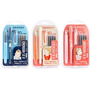 Hobby 2816 Replaceable Ink Bag Erasable Pen Set Pumping Ink Can Replace Ink Bag Dual-use Writing Practice Pen