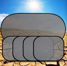 Pare-soleil avec ventouse   Pare-soleil en maille, photocatalyseur 3D, pare-soleil avec ventouse, rideau avant et arrière, housse de style de voiture, 5 pièces