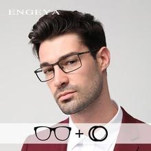 Alloy Men Prescription Glasses Ultra Light Fashion Diopter Clear Transparent Myopia Optical Prescrip
