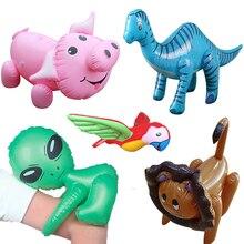 13 Style Inflatable Dinosaur Flamingo Animal Toys Zoo Model Girls Boys Birthday Christmas Party Kids Gift Balloons Tiger Monkey