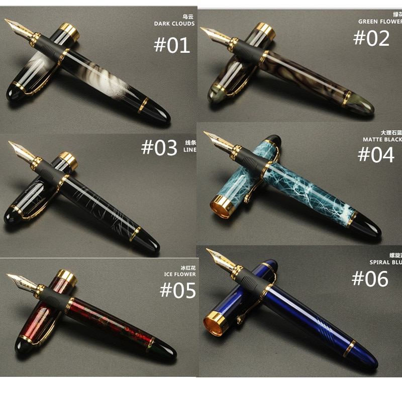 Jinhao X450 Classics Thick Body 1.0mm Bend Nib Calligraphy Pen High Quality Metal Fountain Pen Luxury Ink Gift Pens for Writing high quality jinhao metal snake fountain pen luxury calligraphy ink pen iraurita cobra 3d pattern gift 0 5 nib office supplies