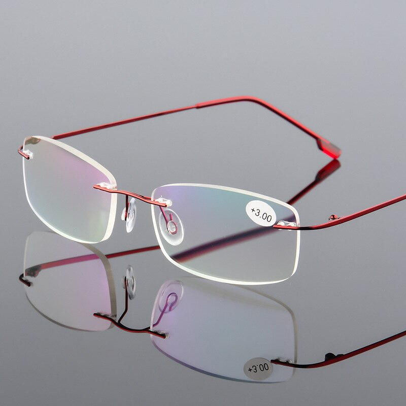 Occhiali Da Lettura + 1,0 + 1,5 + 2,0 + 2,5 + 3,0 + 3,5 + 4,0 Foldabletitanium gafas de lectura sin montura gafas presbiopes para hombres y mujeres