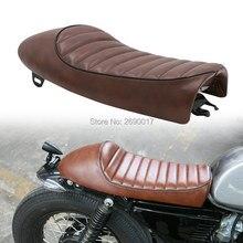Siège de moto café pour moto   Vintage, selle de bosse brune, Locomotive hachoir, personnalisé
